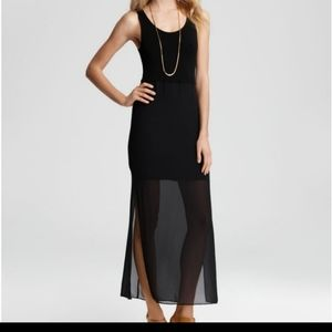 Black Vince Camuto Chiffon Overlay Maxi Dress